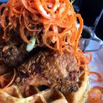 Fried Chicken and Waffle (close up)