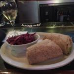 Chicken Wrap with Red Cabbage Slaw