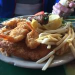 second visit redfish and shrimp