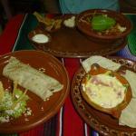 Tortilla Soup, Queso Fundido, and a burrito