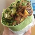 Very tasty veggie wrap