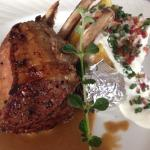 Rack of lamb with baked potato