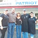 the owner and  staff at Frankie's patriot bbq
