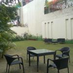A little courtyard that may be used by the guests