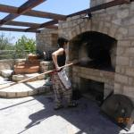 break making in the stone oven