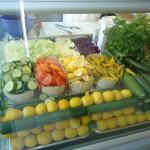 Salads freshly prepared