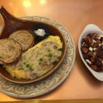 The Floridian omelette... My favorite!!!! With a side of Mediterranean potatoes.