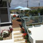 Lovely decking area were you can sit and have breakfast with sea view
