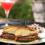 Portabella Sandwich & Pomegranate Sunrise