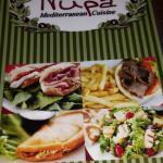 Nupa menu