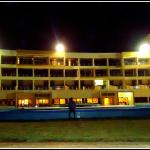Full view of the hotel from the beach