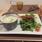 Cassolette de ravioles dauphinoises à la crème
