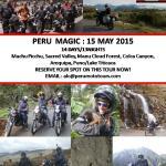PERU MAGIC MOTORCYCLE TOUR: 15 MAY 2015. JOIN US!