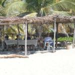 Juanita's palapa on the Pacific Ocean - great meal!