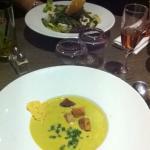 Salade Manon Velouté de poireaux