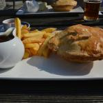Steak & Stilton pie.  Wonderful!