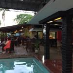 Pool, bar, restaurant.