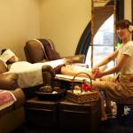 Foot massage treatment area