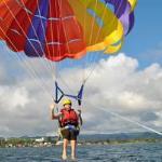 Paragliding at Lake Rotorua with Kawarau Jet