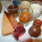 assiette du buffet des desserts