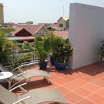 The Frangipani patio area.