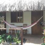 Eingang zu unserer Hütte