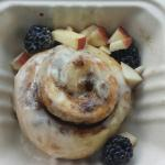 Irish Cream cinnamon roll. The toppings slipped as I took a corner too fast, but you get the ide