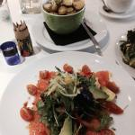 Smoked salmon salad with warm new potatoes