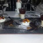 Trio of dessert for their New Year menu