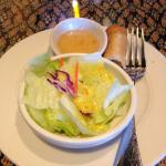 Mini salad and fried roll before our meal.