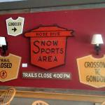 A few of the Fireside Tavern vintage trail signs