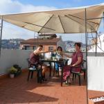 petit dejeuner sur terrasse du toit