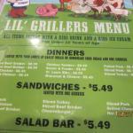 child's menu