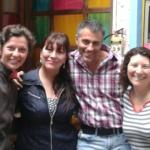 Carlota (another guest), Lima, me and Marta