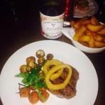 A feast at the Kings House with a reasonably priced and delicious red from Georges Duboeuf.