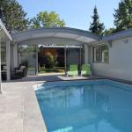 Espace piscine chauffée toit ouvert