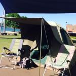 Out Glamping army tent