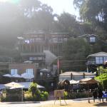 Vista de las Cabañas y del Café