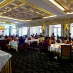 General view of the restaurant dining hall.