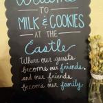 """March promotion served in castle library """"Cookies  & Milk"""" served from 730 to 830 pm, come join."""