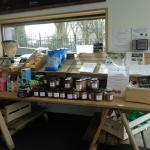 Some of the local produce on offer inside Café West, including dog biscuits!