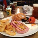 Gammon and chips, yummy