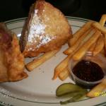 Monte Cristo sandwich with french fries