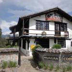 Hotel Huagra Corral - entrance to Cotopaxi National Park