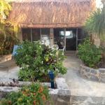 Casita patio that faces the beach/ocean