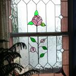 One of Many Stained Glass Windows in the Dining Room
