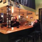 Friendly bartenders at Mother Road Brewing