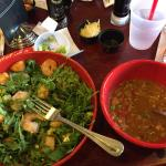 Shrimp salad and gumbo