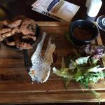 Salt and spicy calamari starter