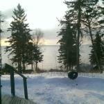 View of Lake Superior from our motel room